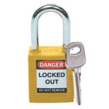 Safety Padlock (Yellow): Lightweight, Non-conductive and Non-sparking Body