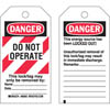 Cardstock Safety Tag: 65451